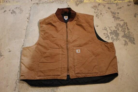 Canvas Jacket Vest / Lined Workwear / Vintage Carh