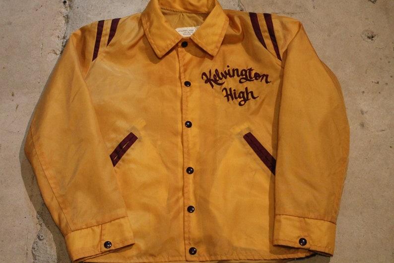 1960s Varsity Bomber  Windbreaker  Kelvington High  American Sportswear  Outerwear Jacket  Streetwear Fashion  Winnipeg Canada