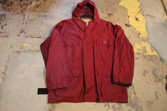 Vintage Raincoat / IZOD Lacoste  / Cargo Pocket /