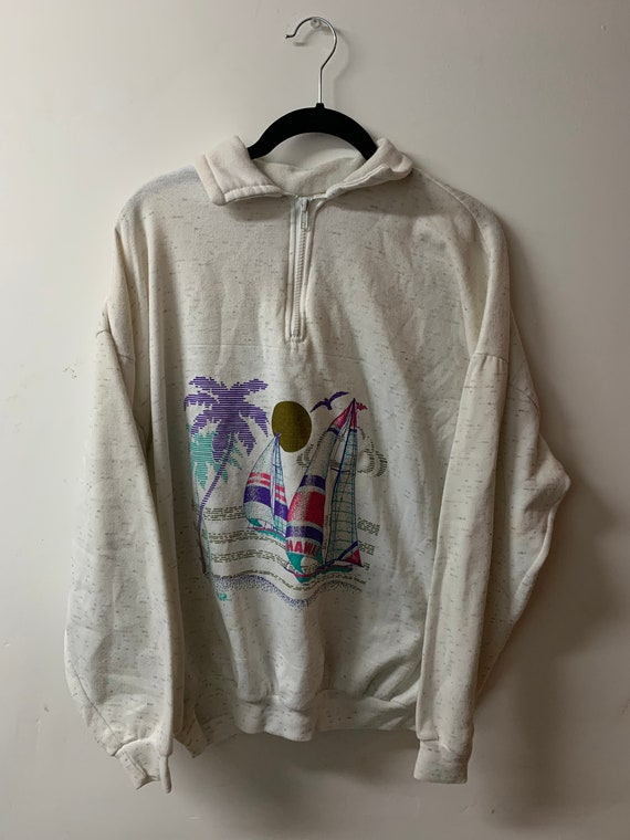 Vintage / Beach / Wear / Sweater / Made in USA / 8