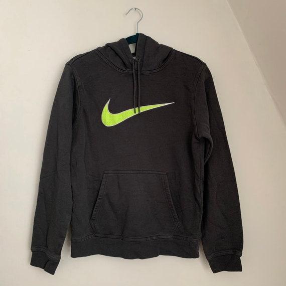 Nike / Nike Hoodie / Nike Logo / Neon Nike / Athle