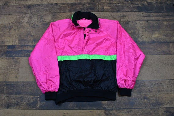 Vintage 90s Colour Vibrant Neon Zip Up Winter Coat By Ispo Kids