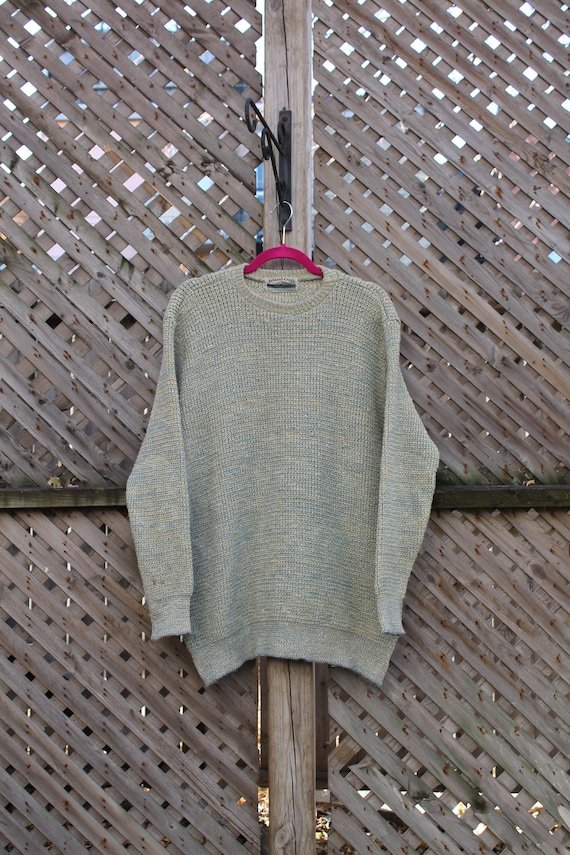 Vintage 90s The Limited Jeans Off White Women/'s Knitted Pullover Sweater Small to Medium