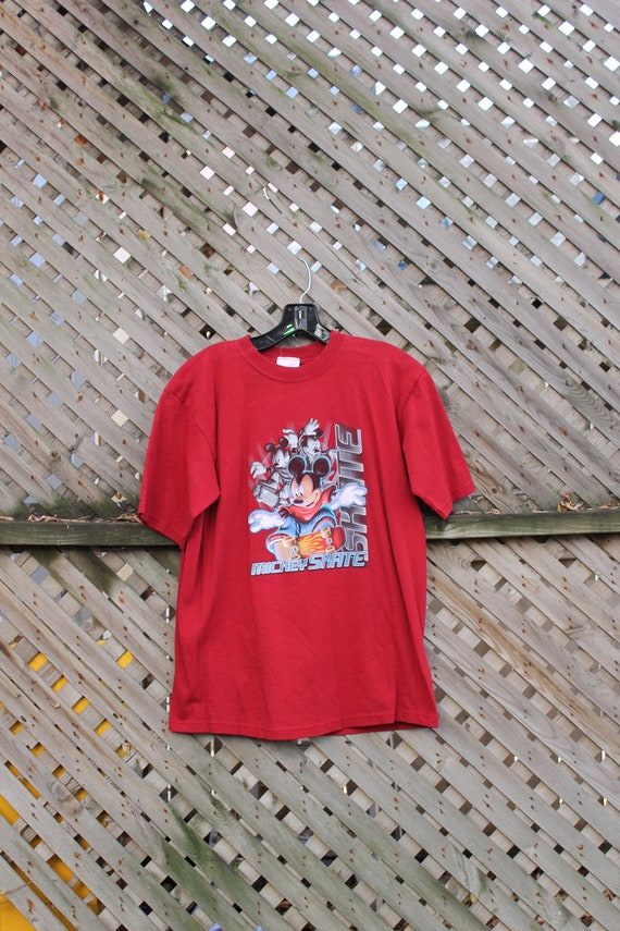 Disney Shirt - Large Off White Fashion Clothes Streetwear Vintage Clothing 80s Mickey Mouse T Shirt Distressed Vintage Tee