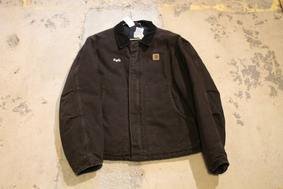 Vintage Carhartt / Full Zip Embroidered Workwear J