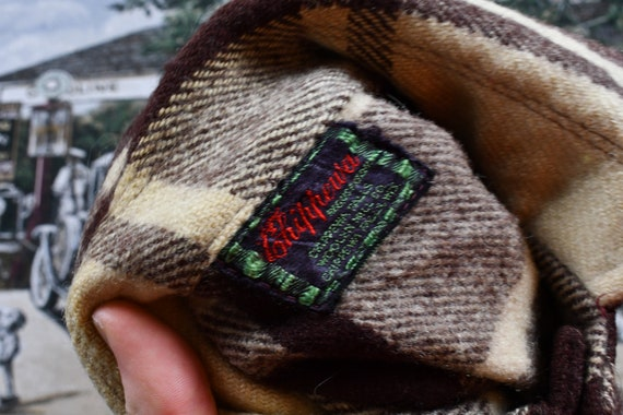 Vintage Chippewa Falls Woolen Mills Shacket Button Up Shirt  Plaid Pattern Print  Outdoors /& Wilderness  Fall Winter  Casual Workwear