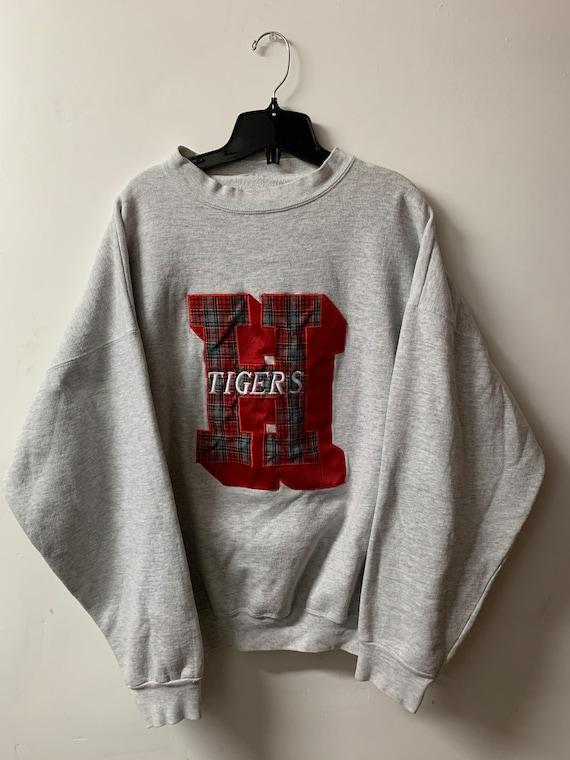 Vintage Crewneck / Tigers / Varsity Sweater / 80s