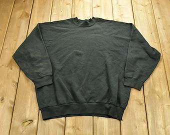 Vintage 1980s Blank Hanes Raglan +Crewneck Sweatshirt / 90s Crewneck / Made In USA / Athleisure / Streetwear / Raglan Sleeve