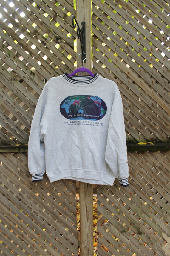 Vintage Crewneck / Oneita Made In USA / 90s Graphi
