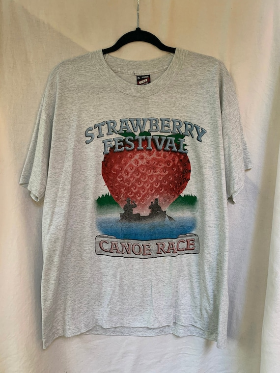 Strawberry Festival T-Shirt / Canoe Race / Canoe /