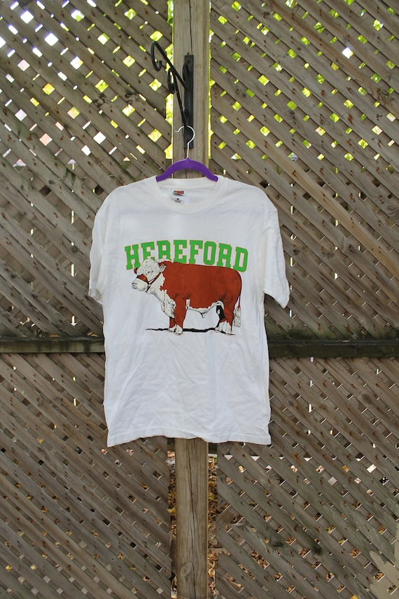 Hereford Cattle / Vintage T-Shirt / Cow / Animal G