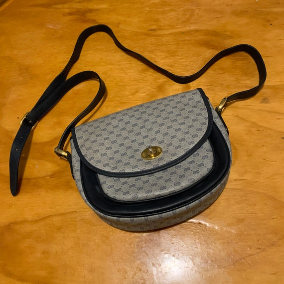1970s Gucci Monogram Cross Body Bag