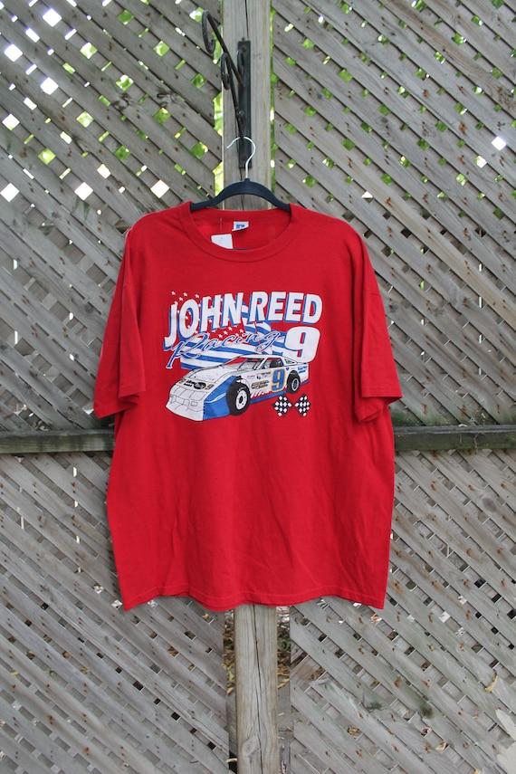 Vintage Nascar T Shirt / John Reed Racing / Race C