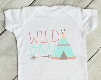 Wild One | Tribal Theme | First Birthday Onsie | First Birthday Girl