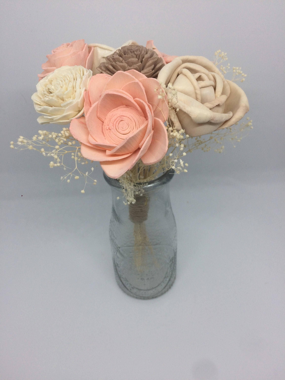 Sola wood flower mini bouquet glass milk jar etsy zoom izmirmasajfo