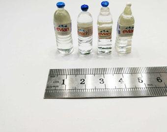 2PCS Dollhouse Miniature Toy Food Drink Milk Bottle Home Decor Scene LF