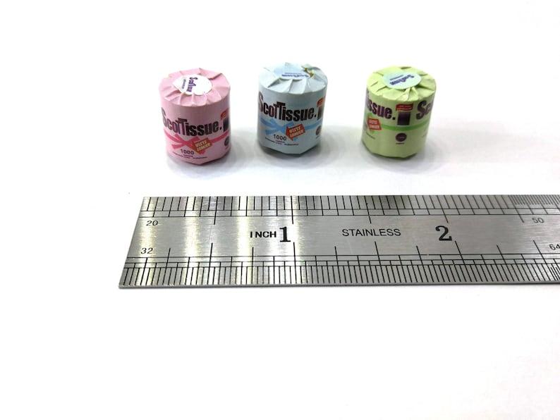 Dollhouse Miniature Accessories Barbie Doll Toilet Tissue Rolls Paper Bathroom