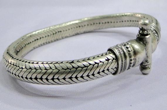 silver bracelet rope chain snake bracelet jewelry