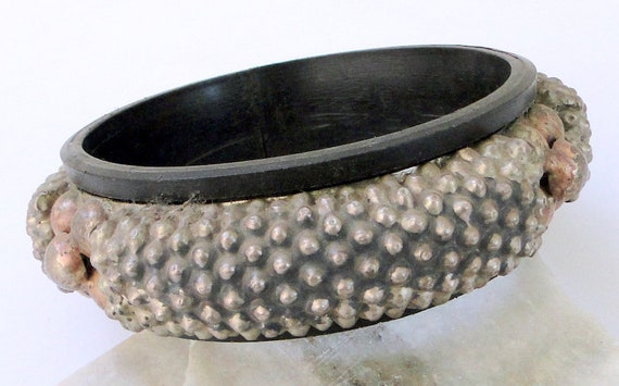 ethnic tribal old silver bangle upper arm bracelet
