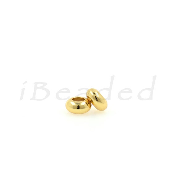 Bulk 20pcs Golden Metal Beads Spacer Craft Jewelry Finding 10x13.5mm Charms NEW