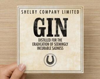 Peaky Blinders: Shelby Gin notecard