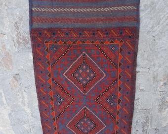 2/'5 x 11/'3 Feet Vintage Handmade Afghan Tribal Mishwani 100/% Wool Traditional Hallway Rug Runner  Turkish Decor Runner  Beluch Rug Runner