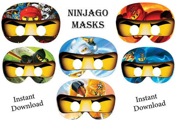 Soft image with ninjago mask printable