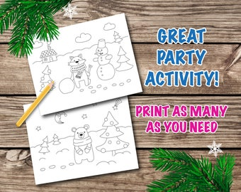 Woodland Coloring Page Pages Winter Birthday Favorwoodland Printable
