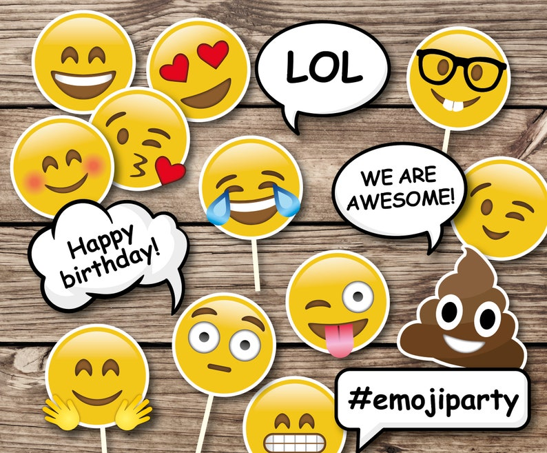 Emoji Birthday Party Props Photo