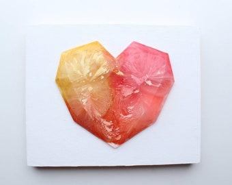 GEOMETRIC RESIN HEART