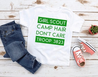 Girl Scouts Matching Cookie Life Messy Hair Bow T-Shirt Mom Personalized Troop Summer Shirt Daisy Brownie Custom Leader Gift Present Selling