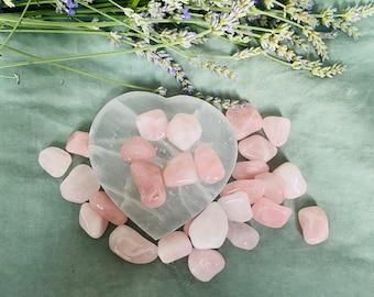 Rose Quartz Tumble Stone | Love Crystals | Crown Chakra Crystals | Healing Crystals | Angelic Crystals