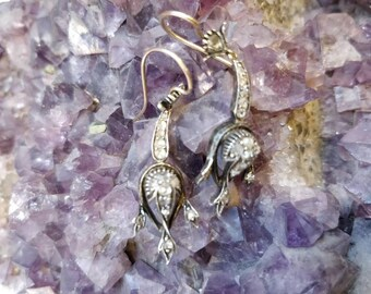Antique Victorian Gold and Diamond drop Earrings