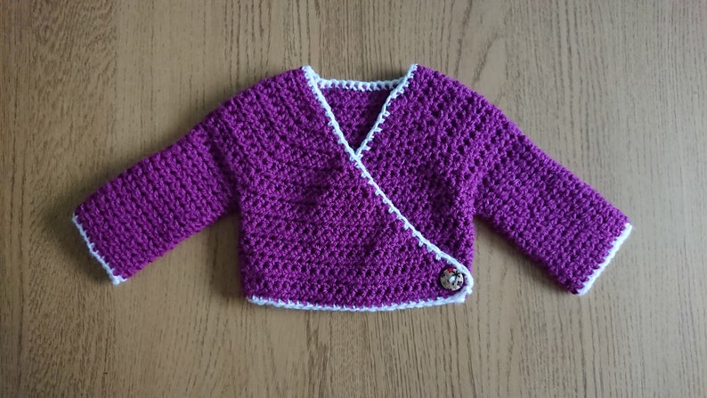 19c348d1e5d8 Crochet Baby Wrap Cardigan