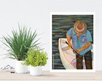 """Birdseye view - Original Painting by Nessie Yara - 12x16"""" (acrylic/board)"""