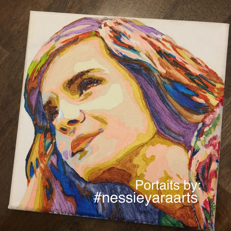 Custom Close Up Portrait from photo  acrylic painting  by image 0