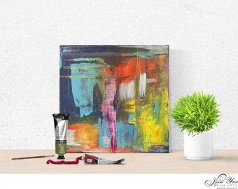 "Attunemnt Precedes - acrylic on canvas (12x12"")"