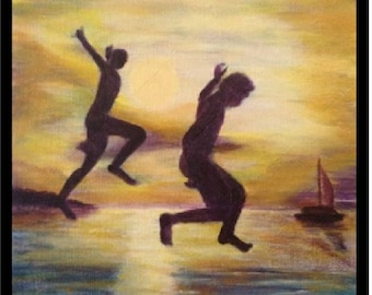 Jump in the sunset - Limited Edition Print by Nessie Yara