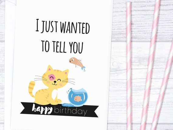 Birthday Card Cat Printable For Lovers