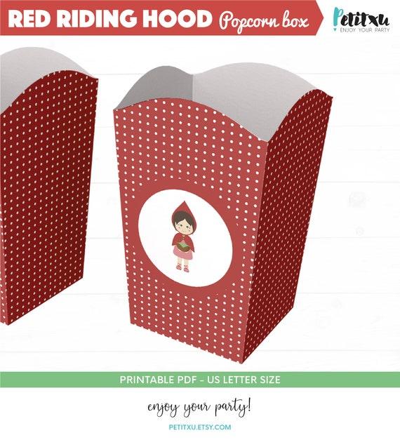 Caperucita Roja Cajita Para Cumpleaños Cajita De Papel Para Cumpleaños Diy Caja Para Candy Bar Imprimibles Caperucita Roja