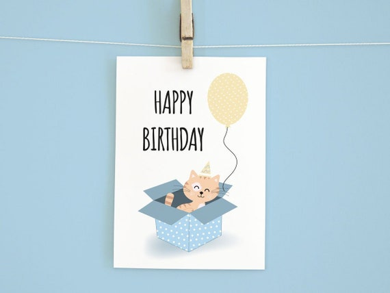 Birthday Card Download For Cat Lovers Greeting