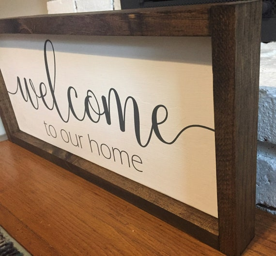Bienvenue à notre maison encadrée - Bienvenue signe pour la maison ...