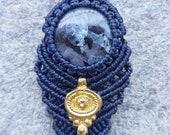 Beautiful Larvikite Macrame Necklace
