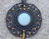 Opalite Dreamcatcher Macrame Necklace