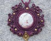 Crazy Lace Agate Macrame Necklace
