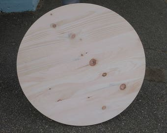 Attractive Pine Round Top Table Top Wood Wooden Various Sizes Colors And Finishes Free  Shipping
