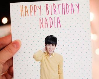 Personalised Chanyeol (EXO) Card