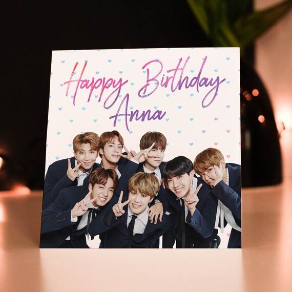 Personalised BTS K-Pop Birthday Card