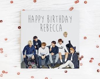 Personalised BTS K-Pop Greetings Card
