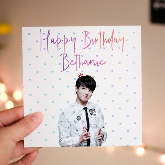 Personalised Jungkook BTS Card